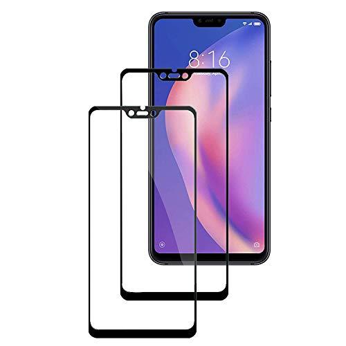 KZIOACSH [2 Unidades] Protector de Pantalla para Xiaomi Mi 8 Lite,[9H Dureza] [Alta Definicion] [Anti-Arañazos] Cristal Templado para Xiaomi Mi 8 Lite,Negro