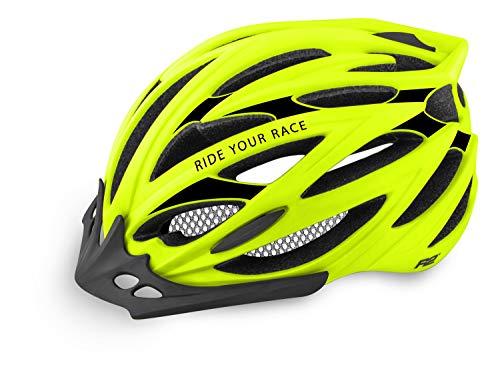 R&R Rennradhelm Arrow | Fahrradhelm | Radhelm | MTB-Helm | Triathlon-Helm | Damen und Herren (gelb, L (58-61))