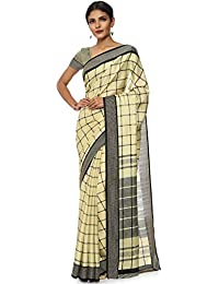 Soch Beige Poly Cotton Printed Sarees