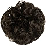zeruangewei Womens Drawstring Wavy Curly Buns Clip-In Hairpiece