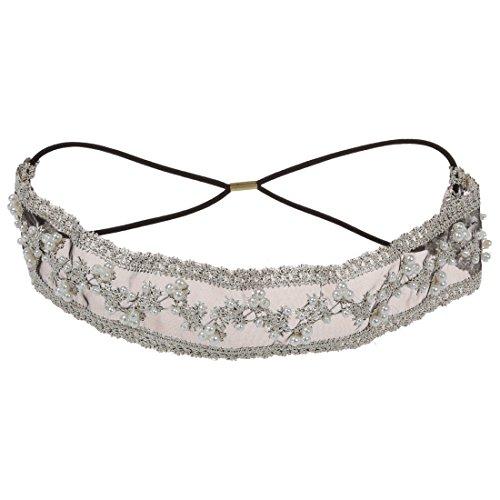 TOOGOO(R)Bandeau Bande De Cheveux De La Tete Perles Dentelle Style Mode