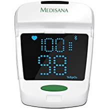 Medisana PM 150 Connect - Pulsioxímetro, con función Bluetooth Smart, color blanco y gris