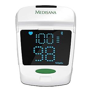 Medisana PM 150 Connect Pulsoximeter zur Messung der Sauerstoffsättigung im Blut, Fingerpulsoximeter zur Pulsmessung – mit OLED-Display und einfacher One-Touch Bedienung – mit Bluetooth – 79457
