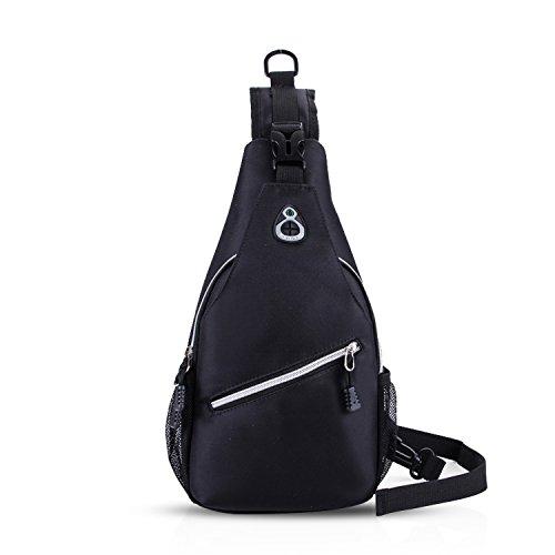 FANDARE Sling Bag Sacs à dos Porté Crossbody Bag Voyage Hiking Bag Cycling Sac Bandoulière Trekking Déséquilibrer Porter des Hommes Imperméable Polyester