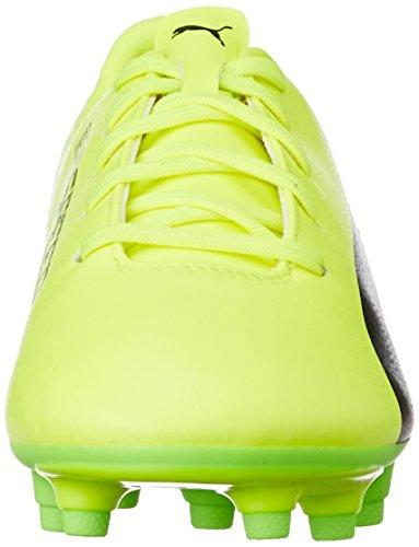 Puma Unisex Kids  Evospeed 17 5 FG Jr Footbal Shoes   Safety Yellow Black-Green Gecko 01   5 UK