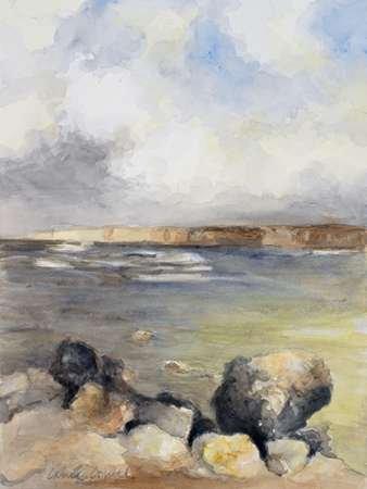 Feelingathome.it-LEINWANDDRUCK-Entlang-der-KŸste-von-Sardinien-II-cm118x89-poster-bild-auf-leinwand (Impressionistischen Aquarell)