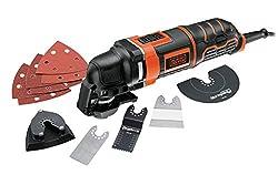Black+Decker Multifunktionsgerät MT300KA zum Schneiden, Schleifen, Entfernen, Schaben - Mit Adapter für Universalzubehör anderer Hersteller & umfangreichem Zubehör - Zubehörwechsel auf Knopfdruck