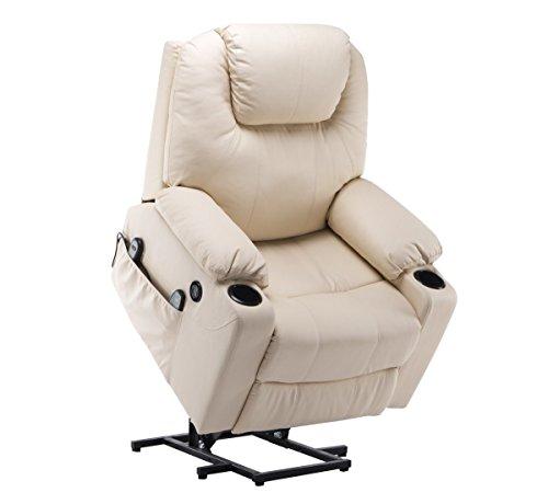 MCombo Elektrisch Aufstehhilfe Fernsehsessel Relaxsessel Massage Heizung elektrisch verstellbar USB...