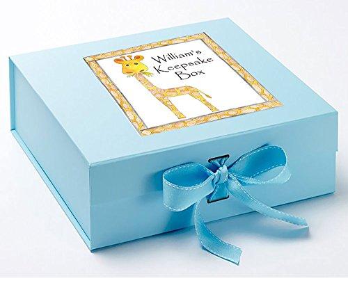 Baby Andenken Box, Memory Box, Giraffe, Memory Box, Baby Geschenk, Baby Dusche Geschenke blau