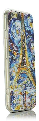 """iProtect coque de protection flexible motif """"promenade en soirée peint à l'huile"""" pour Apple iPhone 6 Plus (5,5"""") - Design Art Classique Impressionisme Paris Tour Eiffel"""