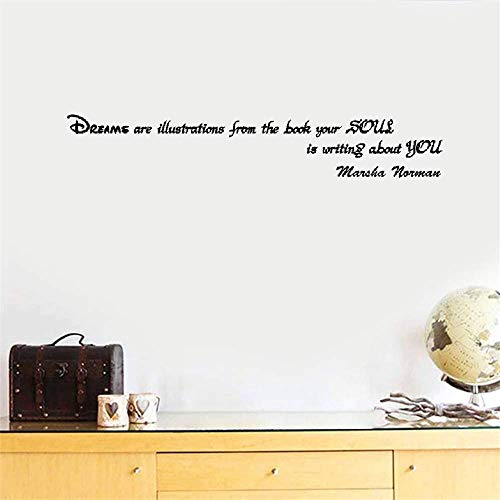 pegatinas de pared baratas Los sueños son ilustraciones del libro que tu alma escribe sobre ti para el dormitorio.