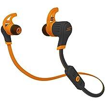 SMS Audio In-Ear Wireless Sport - Auriculares (Intraaural, Naranja, Negro, Binaurale, Dentro de oído, Digital, IPX4)