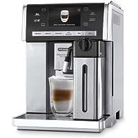 De'Longhi PrimaDonna Exclusive ESAM 6900 Kaffeevollautomat (1350 Watt, 4,6 Zoll TFT-Farbdisplay, integriertes Milchsystem, Kakao/- Trinkschokoladenfunktion, Edelstahlgehäuse) silber/edelstahl
