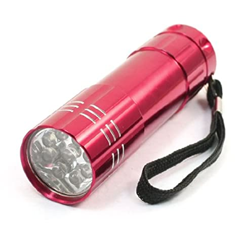 Red 3x AAA Battery Powered 9 LED White Light Mini Flashlight Torch