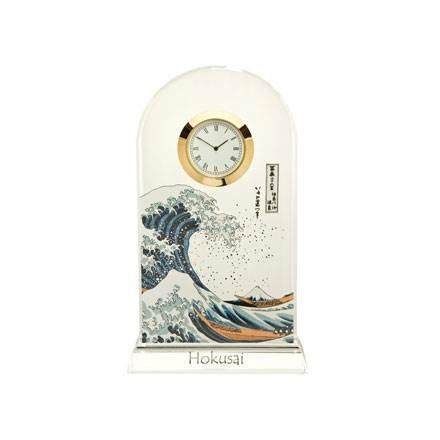Goebel Die Welle, Hokusai,Tischuhr, Tisch Uhr, Kaminuhr, Dekoration, Glas, 66523361