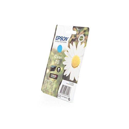 410 Xp Tintenpatronen Epson (Original Tinte passend für Epson Expression Home XP-322 Epson 18 , T1802 , T18024010 C13T18024010 , T180240 - Premium Drucker-Patrone - Cyan - 180 Seiten - 3 ml)