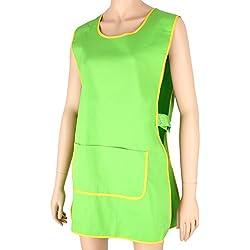Misemiya ® ® Delantal Limpieza, Batas de Laboratorio para Hombre, Verde (Verde 18), X-Large (Tamaño del Fabricante:XL)