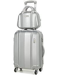 Ensemble valise 54 cm et vanity 29 cm MADISSON 60002 Silver