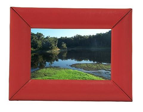 Dacasso en cuir Rouge Cadre photo 4 x 6 cm