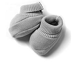 Patucos de Punto 100% algodón para Bebé Color Gris - Minutus
