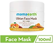 Mamaearth Ubtan Face Pack Mask for Fairness, Tanning & Glowing Skin with Saffron, Turmeric & Apricot O