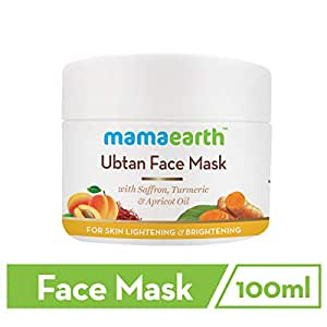 Mamaearth Ubtan Face Pack Mask for Fairness, Tanning & Glowing Skin with Saffron, Turmeric & Apricot Oil, 100 ml