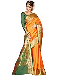 Craftsvilla Silk Saree With Blouse Piece (MAVAN98019467330_Orange_Free Size)