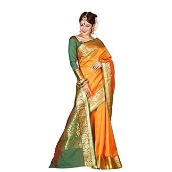 Craftsvilla Silk Saree With Blouse Piece (MAVAN98019467330_Orange_Free Size)