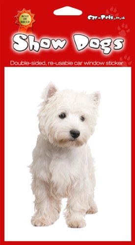 West Highland Terrier Dog finestra/frigo adesivi x (Highland House)