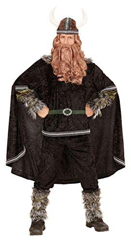senenkostüm Wikinger, Oberteil, Hose, Gürtel, Armstulpen, Beinstulpen, Umhang und Helm (Wikinger Kostüm Zubehör)