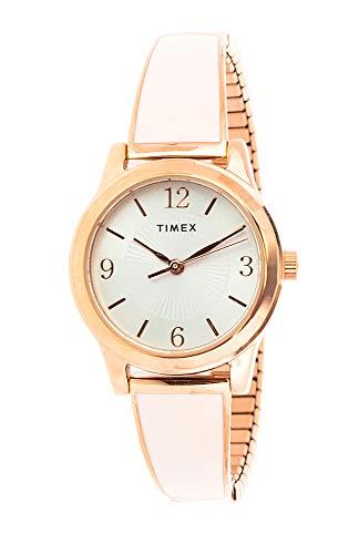 Timex Women's Stretch Bangle TW2R98400 Rose-Gold Stainless-Steel Analog Quartz Dress Watch