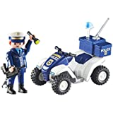 Playmobil 6504-2. Vehiculo Quad con Jefe de Policia