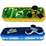 Premsons Fidget Spinner With Kids Double Sided Compass Box - Pack Of 2 - Colour May Vary
