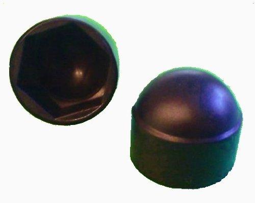 50 Stück Sechskant Schutzkappe M10 - Schlüsselweite 17mm, Farbe schwarz - Abdeckkappe
