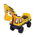 Cavalcata Ride-On Toy Digger Escavatore Grabber Bulldozer Bambini su Walker Push Lungo Escavatore 2-in-1 Digger, con Il Manuale Escavatore Scoop