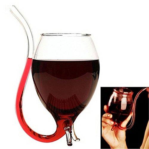 Kicode Créatif 300ml Vampire Devil Clear Jus de verre Vin rouge Tasse de tasse avec le cadeau de partie de bec