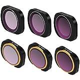 Generic 6pcs Multi-Layer Films Filter Lens Filter Set ND4+ND8+ND16+ND4-PL+ND8-PL+ND16-PL for DJI Osmo Pocket Handheld Gimbal Accessory