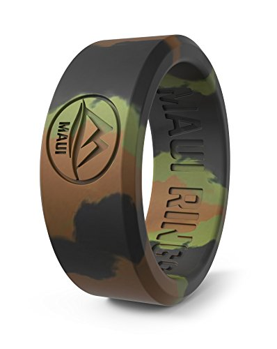 MAUI RINGS Best Silicone Wedding Ring by SOLID Style Silikon Hochzeitsring für Herren Ehering Verlobungsringe Gummi Ring Herren Ringe Silikon Ring CAMO Ring [DE 64] US:11 / UK:V-W(20.57mm)
