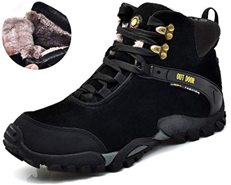 9e6f96aa0a97b GHCX Chaussures Homme Bottes Martin Hiver Automne Et Hiver Martin Plus en  Coton du Désert Chaudes Et Décolletées De La Mode... c82da1