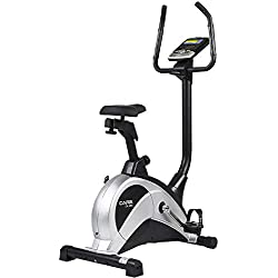 CARE FITNESS - Vélo d'Appartement CV-355 par Roue Inertie 10 kg - Résistance 16 Niveaux - 24 Programmes d'Entraînement - Compact et Réglable - Vélo d'Intérieur pour Fitness et Sport à Domicile