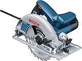 Bosch Professional Scie circulaire Filaire GKS 190 (1400 W, Ø de la lame de scie : 190 mm, Capacité de coupe maxi dans...