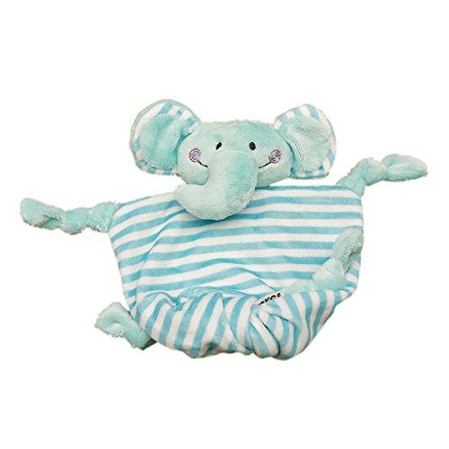 Inchant Baby-Sicherheit Blankie, Lovey Beruhigungssauger Sicherheitsdecke Kuscheltier Plüschdecke 7.5' x 6.7' Tröster Decke für Baby-Kind (Blue Elephant)
