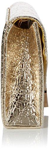 Swanky Swans - Anastasia Envelope Metallic Clutch Bag, Pochette da giorno Donna Oro (Gold)