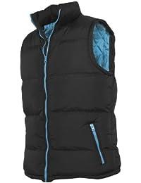 """Urban : """"Contrast Bubble Vest"""" Size: L, Color: black-turquoise …TB299"""