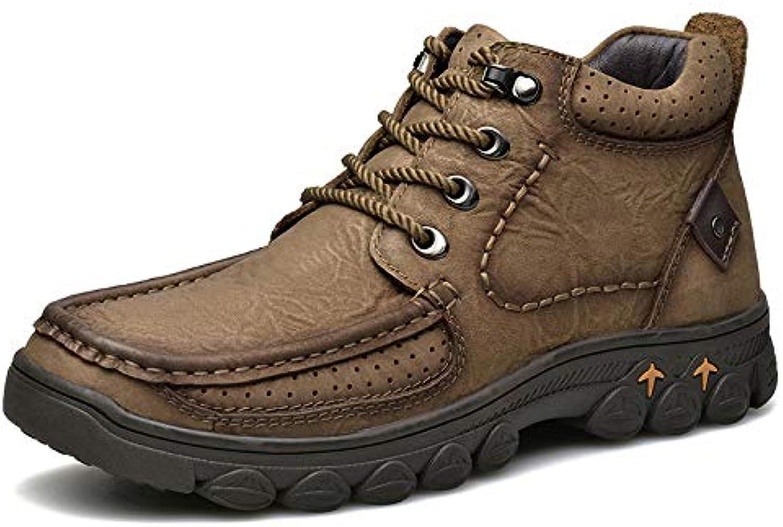 HWG-GAOYZ Stivali da Uomo Scarpe Scarpe Scarpe Stivali Martin Winter Outdoor Leather Plus Velvet Fashion Cotton stivali High per... | Conosciuto per la sua bellissima qualità  a75f42