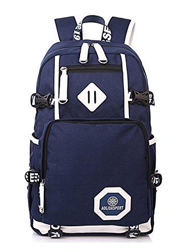 neuer Stil Damen accessories hohe Qualität Einfache Tasche Schultertasche Freizeitrucksack Tasche Rucksäcke Tiefblau Keshi x6SaTb