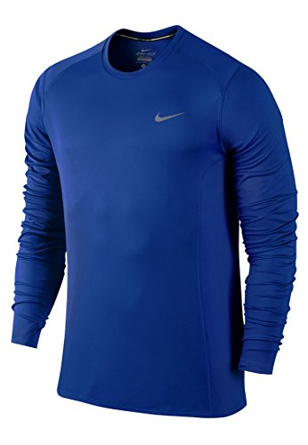 Nike Herren Dri-Fit Miler Langarm Shirt Game Royal/Reflective Silv