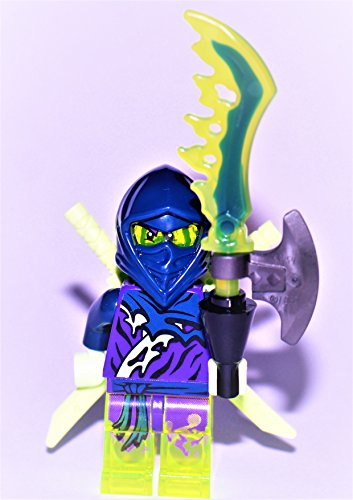 Preisvergleich Produktbild Ninjago LEGO Minifigur : Ghost Ninja Hackler / Ghost Warrior Yokai mit Waffen NEU 70734