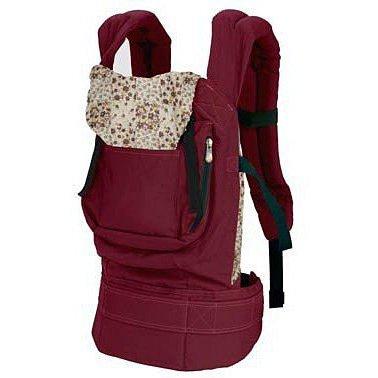 Imagen de sodial r  portabebe algodon comodo ajustable para bebes  rojo