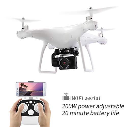 FPV RC Drone, 720 P Telecamera di Controllo Elettronico HD 110 ° Quadricottero WiFi Grandangolare, Altitude Hold, Modalità Headless, 3D Flip, Seguimi, Trasmissione WiFi, per Principianti Adulti,White